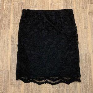 ASOS Black Lace Mini Skirt Size 2